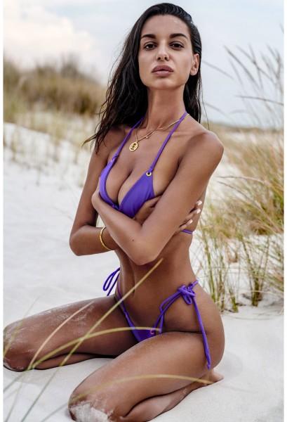 Lila String-Bikini