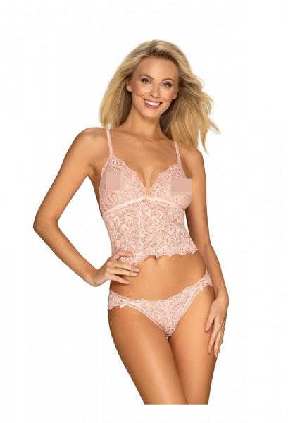 2-Teiliges Dessous Set in Pink mit Panty